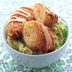 ポテサラ包みハムカツ丼
