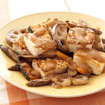 豆腐の焼きサラダ