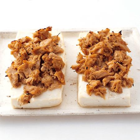 豆腐のツナみそ焼き