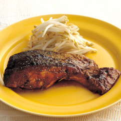 鮭のソースかば焼き