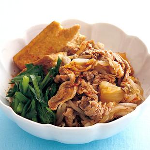 豚肉と厚揚げのキムチ煮