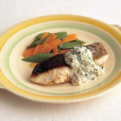 魚のソテー パセリマヨソースがけ