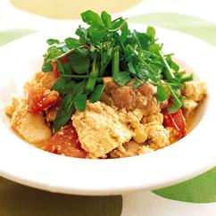 豆腐とトマトのイタリアンチャンプルー