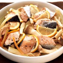 きのこと鮭のレンジ蒸し