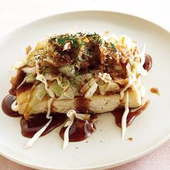 豆腐ステーキのお好み焼き風