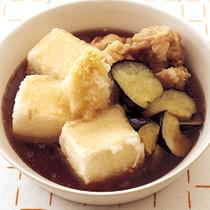 とりとなすの揚げ出し豆腐