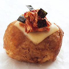 豚肉巻きおむすび(キムチーズ)