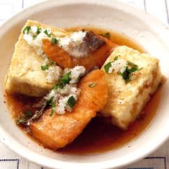 鮭と豆腐の揚げ出し
