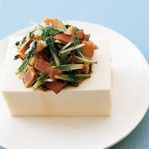 水菜カリカリベーコン冷ややっこ