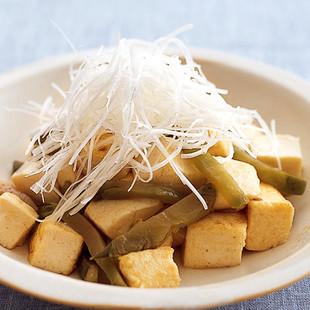 豆腐のザーサイ炒め