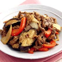 牛肉となすのカレー風味炒め