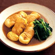 豆腐の肉巻きカレーめんつゆ煮
