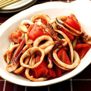 いかとトマトのうま煮
