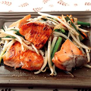 鮭とねぎの炒めもの