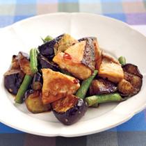 鮭と秋なすのみそ炒め