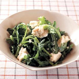 春菊と豆腐のサラダ