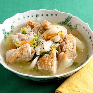 とりと白菜の白湯煮