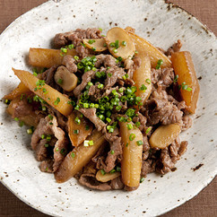 牛肉と大根の炒め煮
