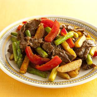 牛肉と彩り野菜のカレー炒め