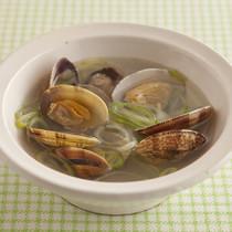 あさりとねぎの中華スープ