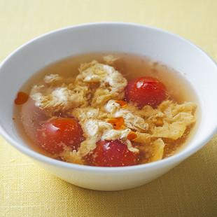 ミニトマトの酸辣湯