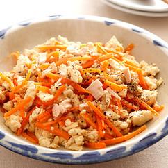 豆腐とツナのチャンプルー