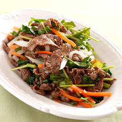 牛肉となますのおかずサラダ