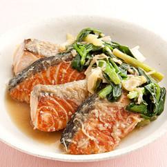 鮭のスタミナ煮