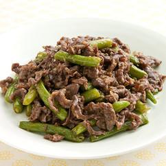 牛肉といんげんの中華炒め