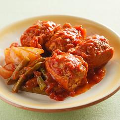 肉詰め厚揚げのトマト煮