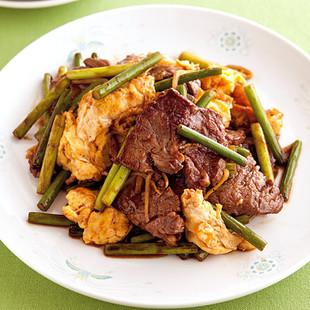 牛肉とふんわり卵の中華炒め