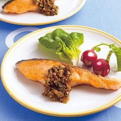 鮭のオニオンソース