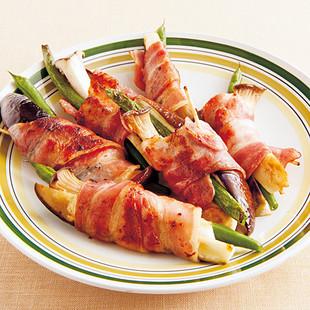 野菜のベーコン巻きソテー