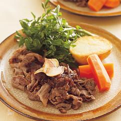 ステーキ風牛肉炒め