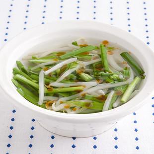 にらともやしの中華スープ