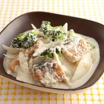 鮭とブロッコリーの豆腐クリーム煮