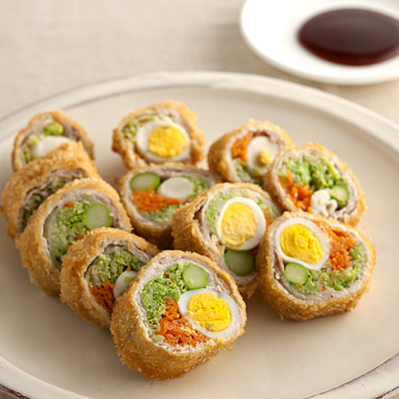 うずらの卵入り豚ロールカツ