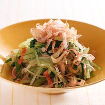 水菜とかにかまのポン酢サラダ