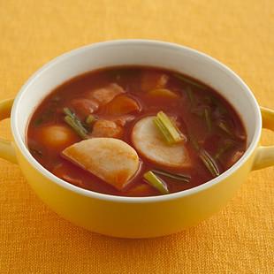 ごろごろかぶのトマトスープ
