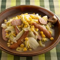 ソーセージと白菜の蒸し煮