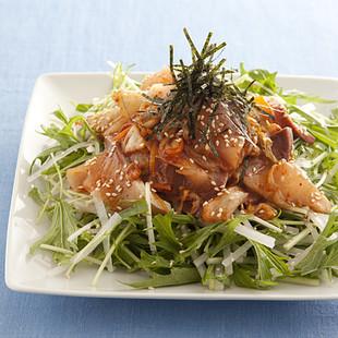 ぶりキムチのサラダ