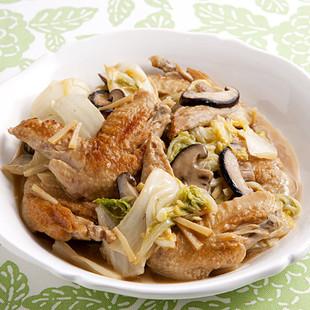 手羽先と白菜のうま煮