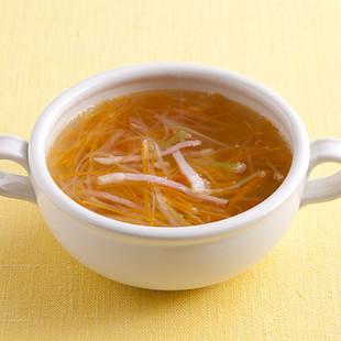 せん切り野菜のコンソメスープ