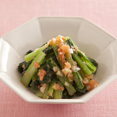 小松菜の明太あえ