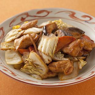 白菜ととり肉の中華風炒め煮