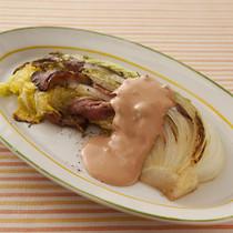 白菜とべーコンの蒸し焼き