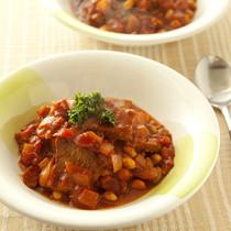 豚肉と豆のトマトシチュー