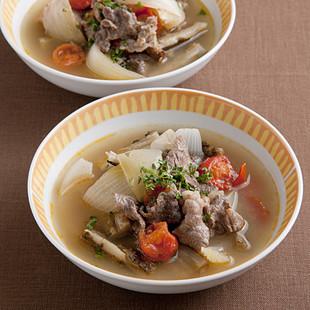 牛肉とごぼうのあっさりスープ煮
