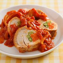 チキンロールのトマト煮