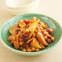ソーセージと豆のラタトゥイユ風